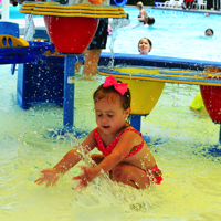 Your small fry will have a big time in our inches-deep splash zone as you play with them. Just be sure to keep your little ones within arm's reach and everyone will have a great time!